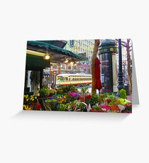 Trolley and the Flowers Greeting Card