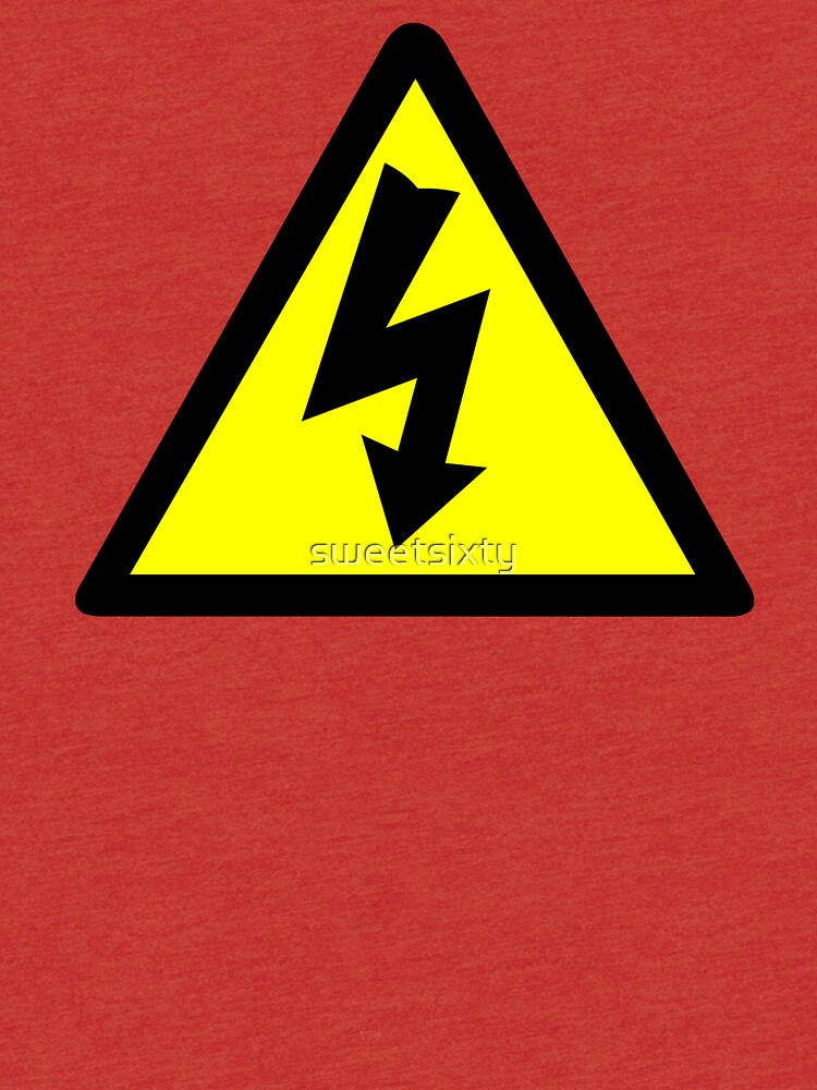 Electrical Warning Symbol Tri Blend T Shirt By Sweetsixty Redbubble