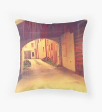 Please come in. Throw Pillow