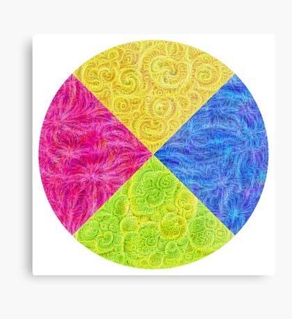 #DeepDream Color Circle Visual Areas 6x6K v1448932478 Metal Print