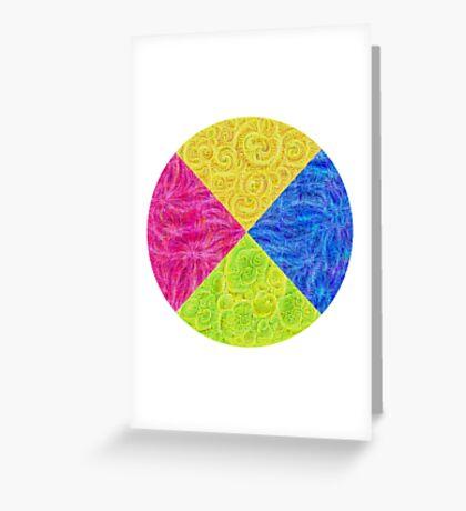 #DeepDream Color Circle Visual Areas 6x6K v1448932478 Greeting Card