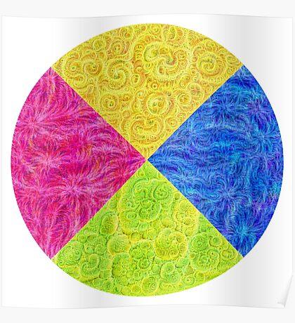 #DeepDream Color Circle Visual Areas 6x6K v1448932478 Poster