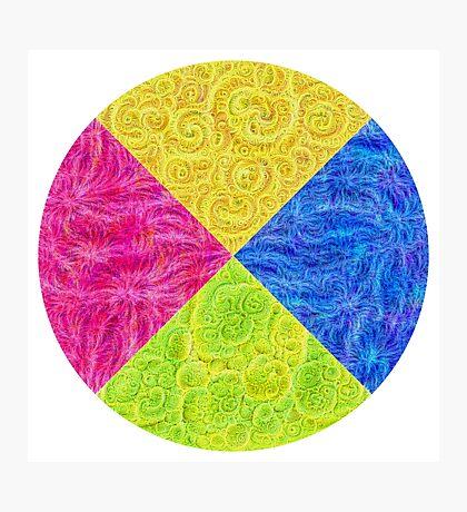#DeepDream Color Circle Visual Areas 6x6K v1448932478 Photographic Print