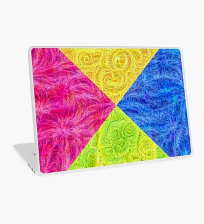 #DeepDream Color Circle Visual Areas 6x6K v1448932478 Laptop Skin