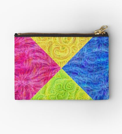 #DeepDream Color Circle Visual Areas 6x6K v1448932478 Zipper Pouch