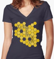 A Study in Honeycomb: Elementary Women's Fitted V-Neck T-Shirt