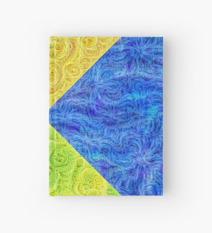 #DeepDream Color Circle Visual Areas 6x6K v1448932478 Hardcover Journal