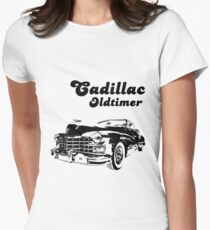 Cadillac oldtimer Womens Fitted T-Shirt