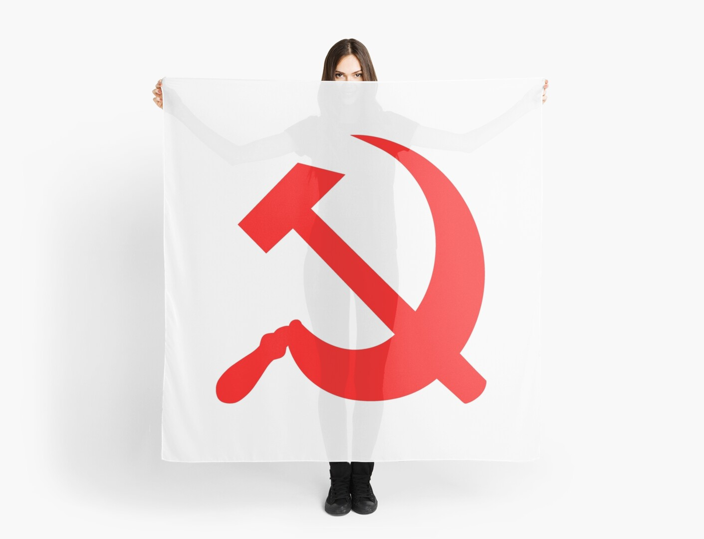 Hammer And Sickle Communist Symbol Scarves By Sweetsixty Redbubble