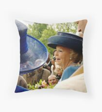 HM Queen Beatrix - Among the people Throw Pillow