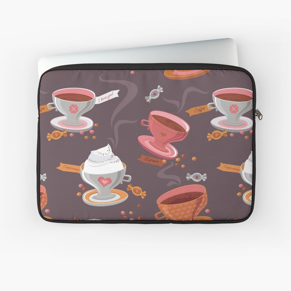 Coffee Pattern Laptop Sleeve