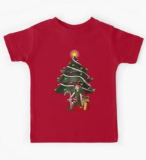 Cute Girl Elf Christmas Tree Holiday  Kids Clothes