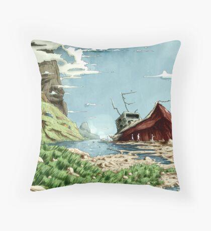 The wreck Throw Pillow