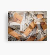 Cigarette chaos. Canvas Print