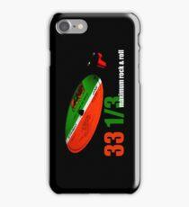Vinyl - 33 1/3 Maximum Rock & Roll iPhone Case/Skin