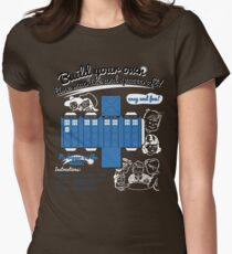 Build your own time machine and spacecraft! Womens Fitted T-Shirt