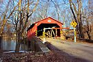 March Visit To The Rishel Covered Bridge by Gene Walls