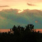 Golden Sunset with Clouds by artqueene