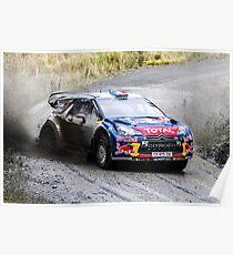 Sebastien Loeb 2 WRC Rally GB Poster