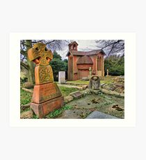 The Watts Mortuary Chapel - Compton Surrey - HDR Art Print