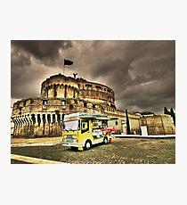 Gelateria: Castel Sant'Angelo, Rome (HDR) Photographic Print