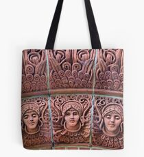 The Watts Mortuary Chapel -Brick Detail - HDR Tote Bag