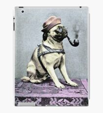 Pug Dog with Hat and Pipe iPad Case/Skin