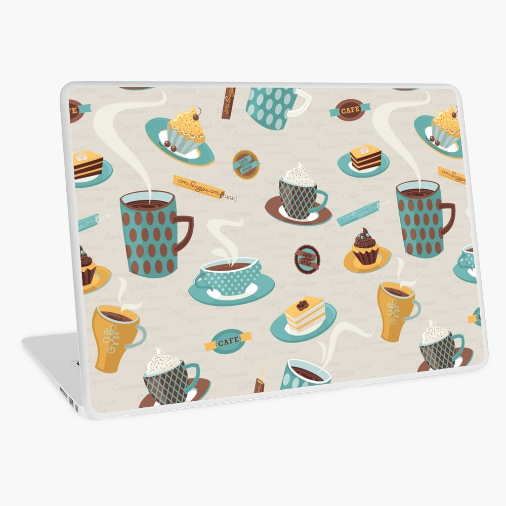 Morning Coffee Pattern  Laptop Skin