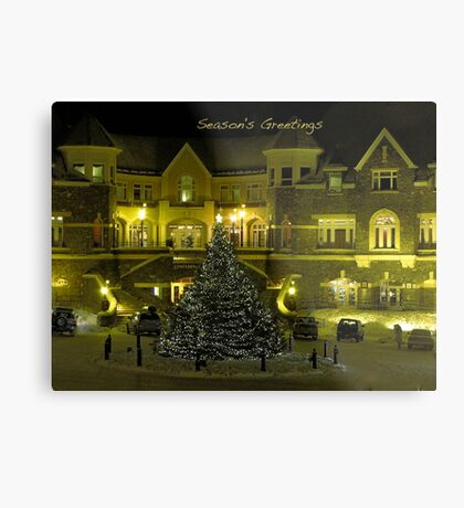 Season's Greetings Christmas card Metal Print