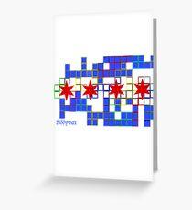 Tetris Chicago Greeting Card