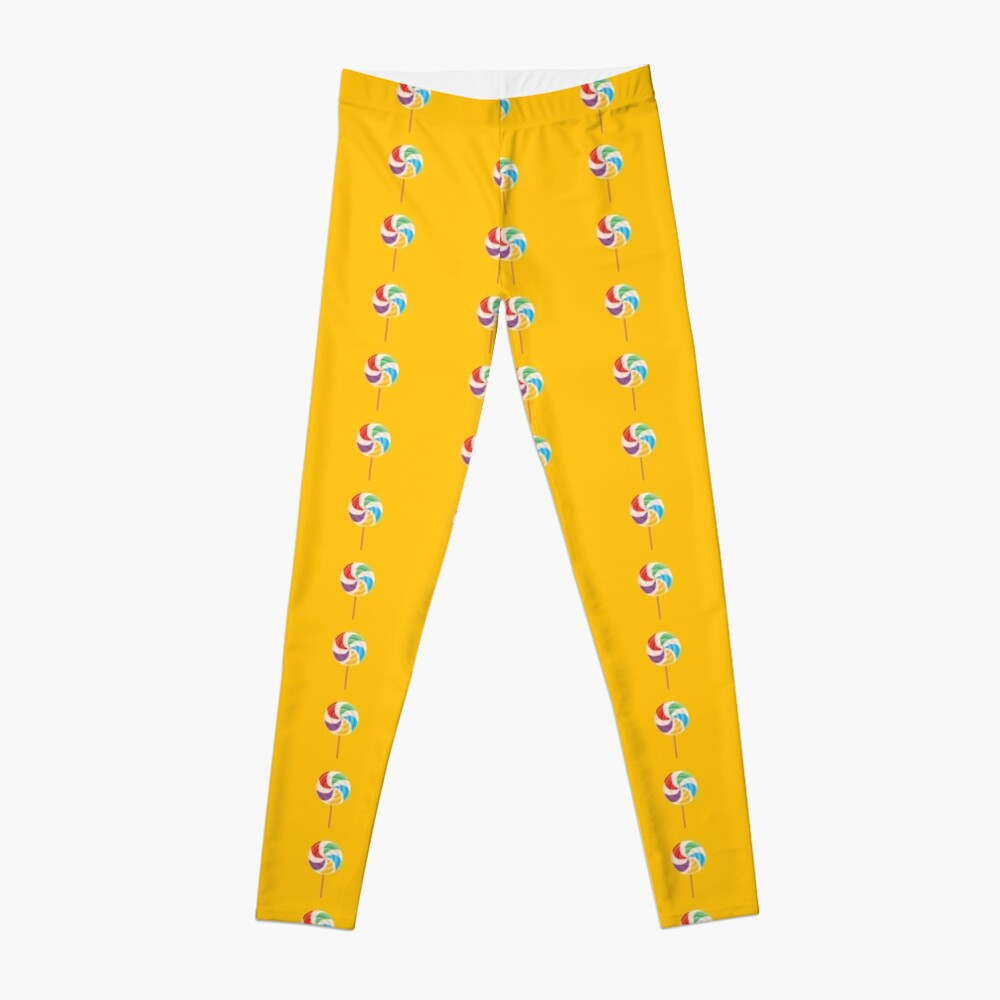 Colorful Lollypop on Yellow Leggings