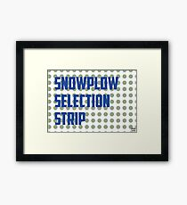 Snowplow Selection Strip Framed Print