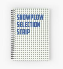 Snowplow Selection Strip Spiral Notebook