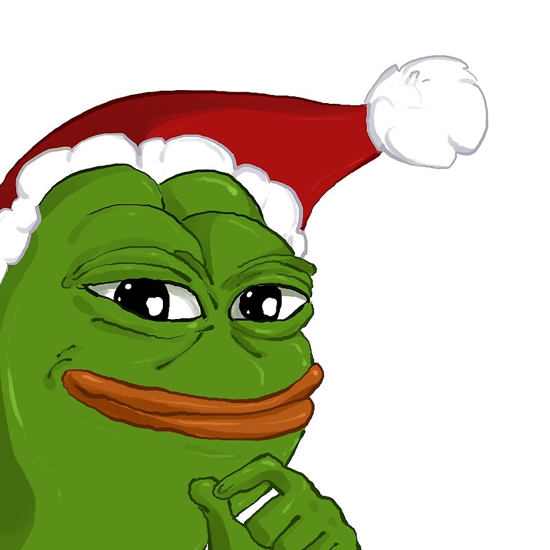 Quot Holiday Pepe Quot By Spookybjorn Redbubble