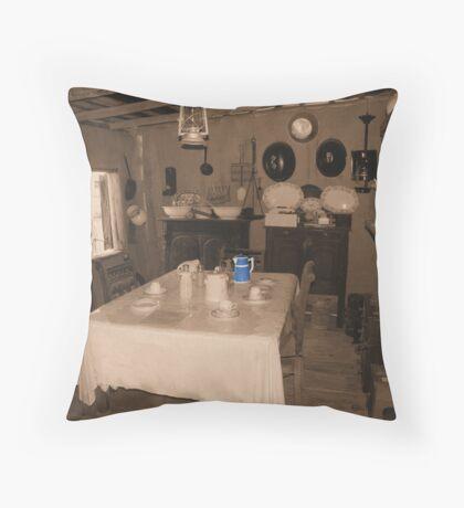Tables set for Tea Throw Pillow