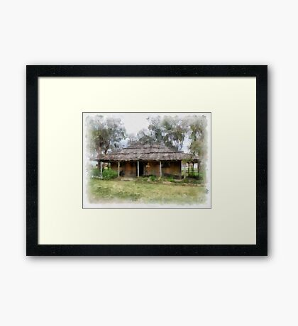 Old Pioneer Home Framed Print