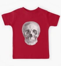 Albinus Skull 01 - Back To The Basic - White Background Kids Tee