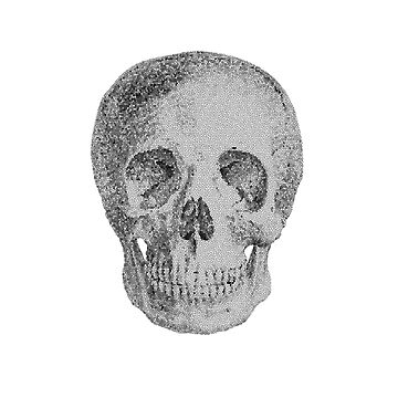 Albinus Skull 04 - Never Seen Before Genius Diamonds  - White Background by sivieriart