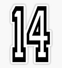 14, TEAM SPORTS, NUMBER 14, FOURTEEN, FOURTEENTH, Competition,  Sticker