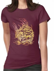 Bright Fish Face Monster 2013 Womens Fitted T-Shirt