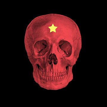 Albinus Skull 05 - Red Comunist Legend - Black Background by sivieriart