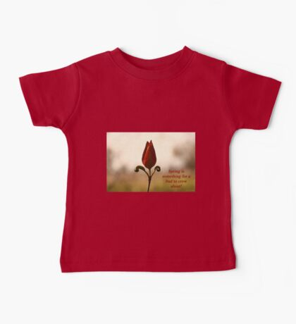 Spring is something for a bud to crow about. Kids Clothes