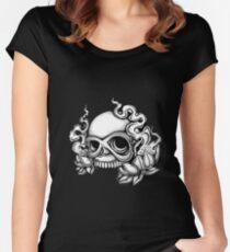 Skull Tattoo Flash Women's Fitted Scoop T-Shirt
