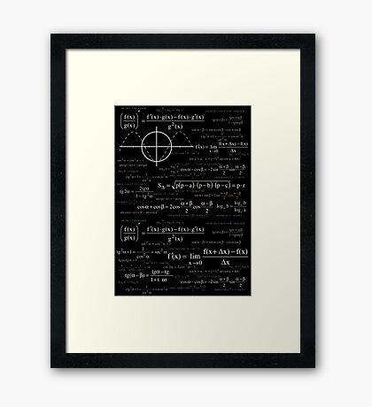 Math formula Framed Print