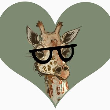 Ironic Lovely Lashes Giraffe by Razvan-Sedekiah