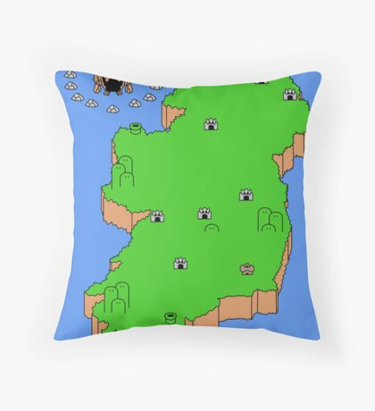 Mario's Emerald Isle Throw Pillow