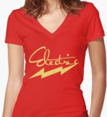electric 2 Women's Fitted V-Neck T-Shirt