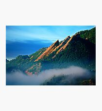 Flatirons And Fog Photographic Print