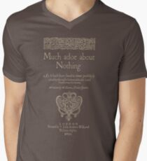 Shakespeare, Much adoe about nothing. Dark clothes version Men's V-Neck T-Shirt
