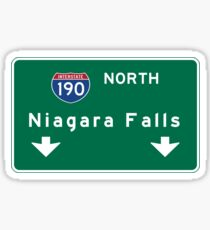 Niagara Falls, Road Sign, New York Sticker